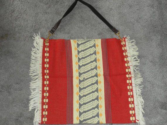 Southwestern shoulder bag tribal blanket by 757VintageHeaven, $7.57