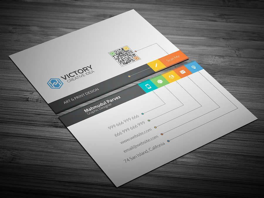 28c08bfcc0a9c Un paquete con 50 plantillas de tarjetas de presentación para editar en  programas como Photoshop y que se pueden descargar gratis y utilizar  libremente para