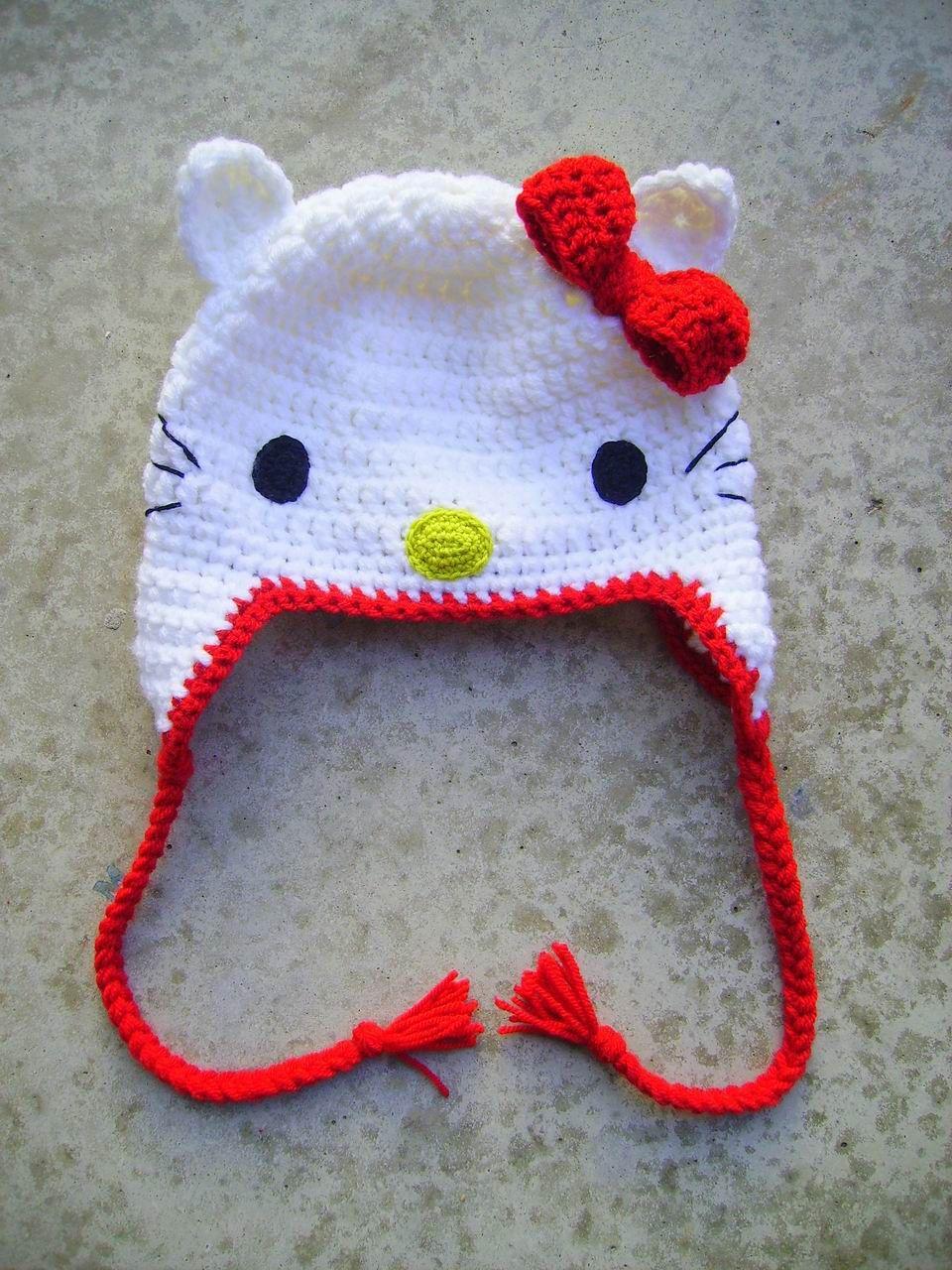 Hello Kitty Crochet Hat Crochet Hello Kitty Hello Kitty Crochet
