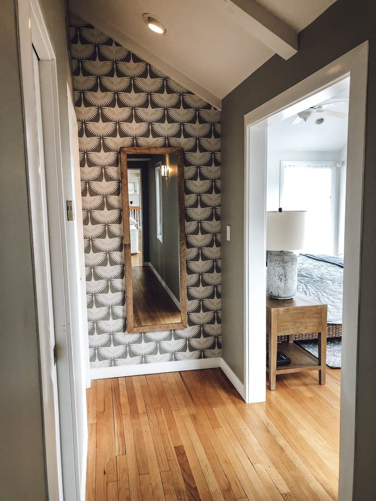 After Hallway Accent Wall Wallpaper Living Room Accent Wall Accent Wall Wallpaper Accent Wall