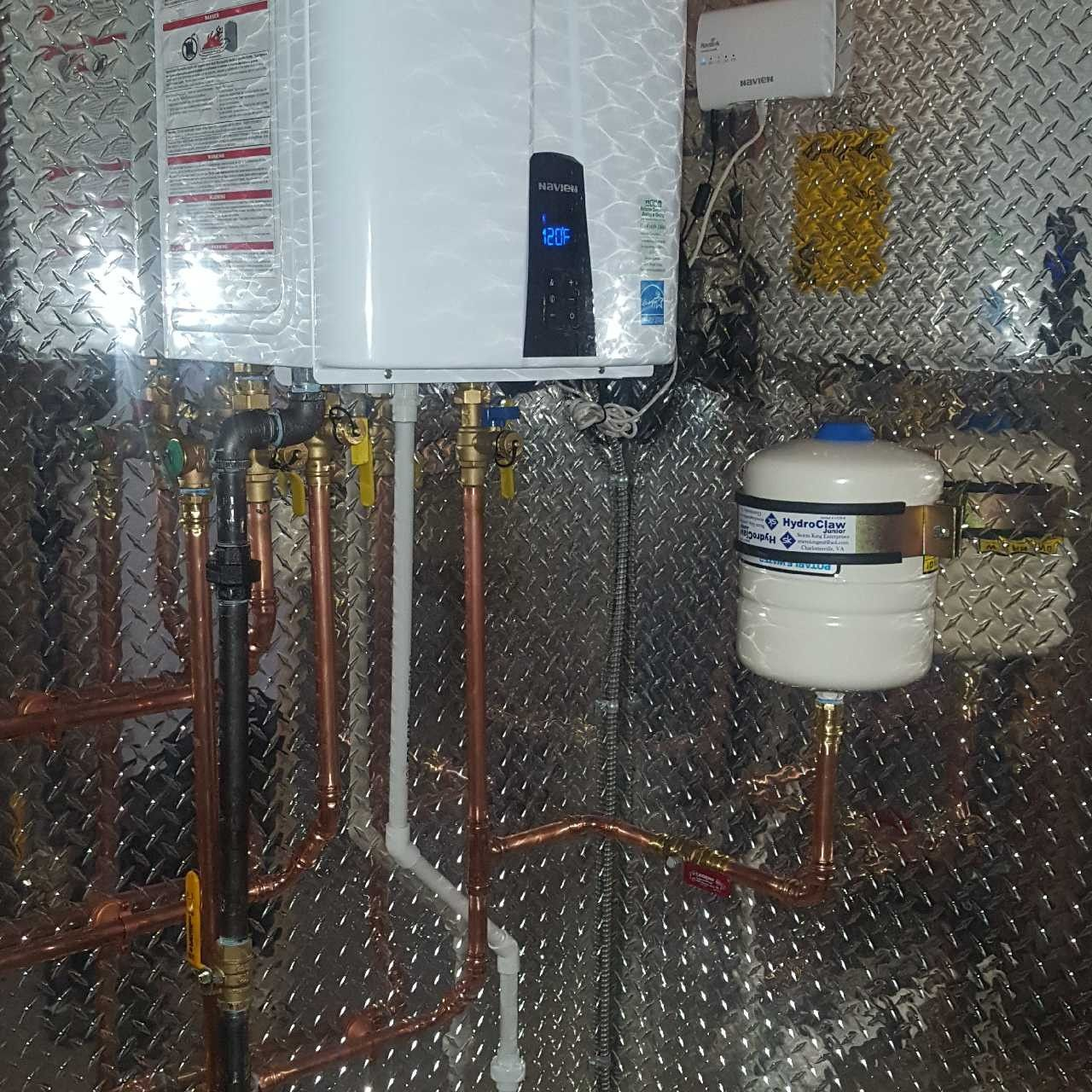 Pin by mccarver mechanical heating an on navien tankless