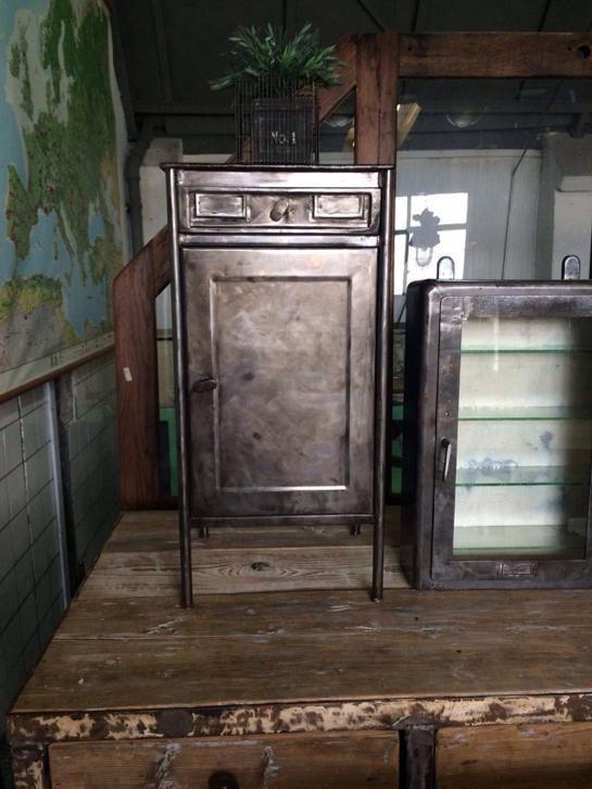 ≥ Industriële vintage stoere leger nachtkastjes - Slaapkamer ...