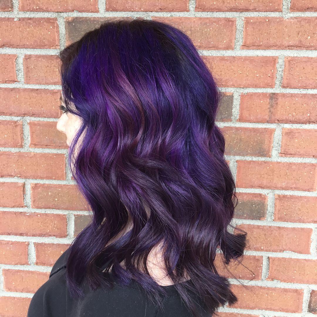 Crazy dimensional purple🦄 😍 . . . . . . purplehair