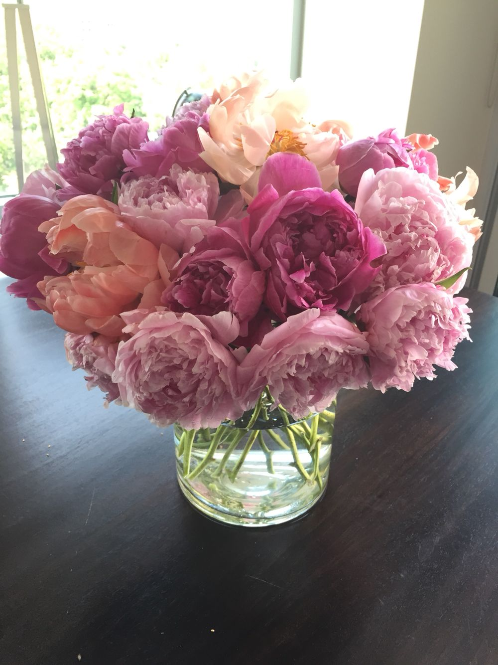 Some pretty #pink #peonies brightening up my Saturday