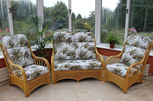 Best Sorrento Cane Conservatory Furniture 3 Piece Suite 2 400 x 300