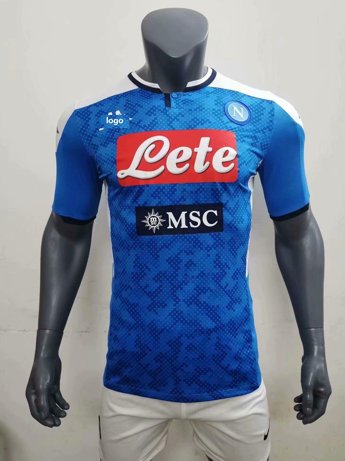 1920 player version napoli adult soccer jersey football shirt