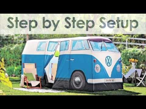 VW Bus Camping Tent | Solutions.com  this is cute and pretty funny. theres probably alot of space inside though