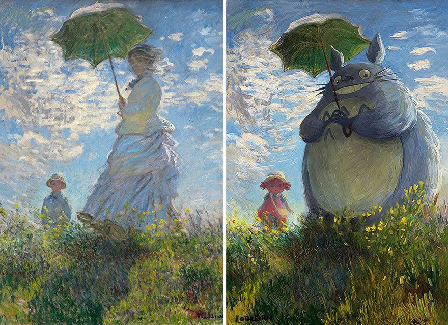 Artist Gives Famous Paintings Geeky Cartoon Makeovers Famous Art