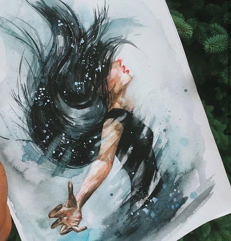 Powerful Watercolor Paintings What Do You Think Artis Zeichnungen Malen Und Zeichnen Aquarell