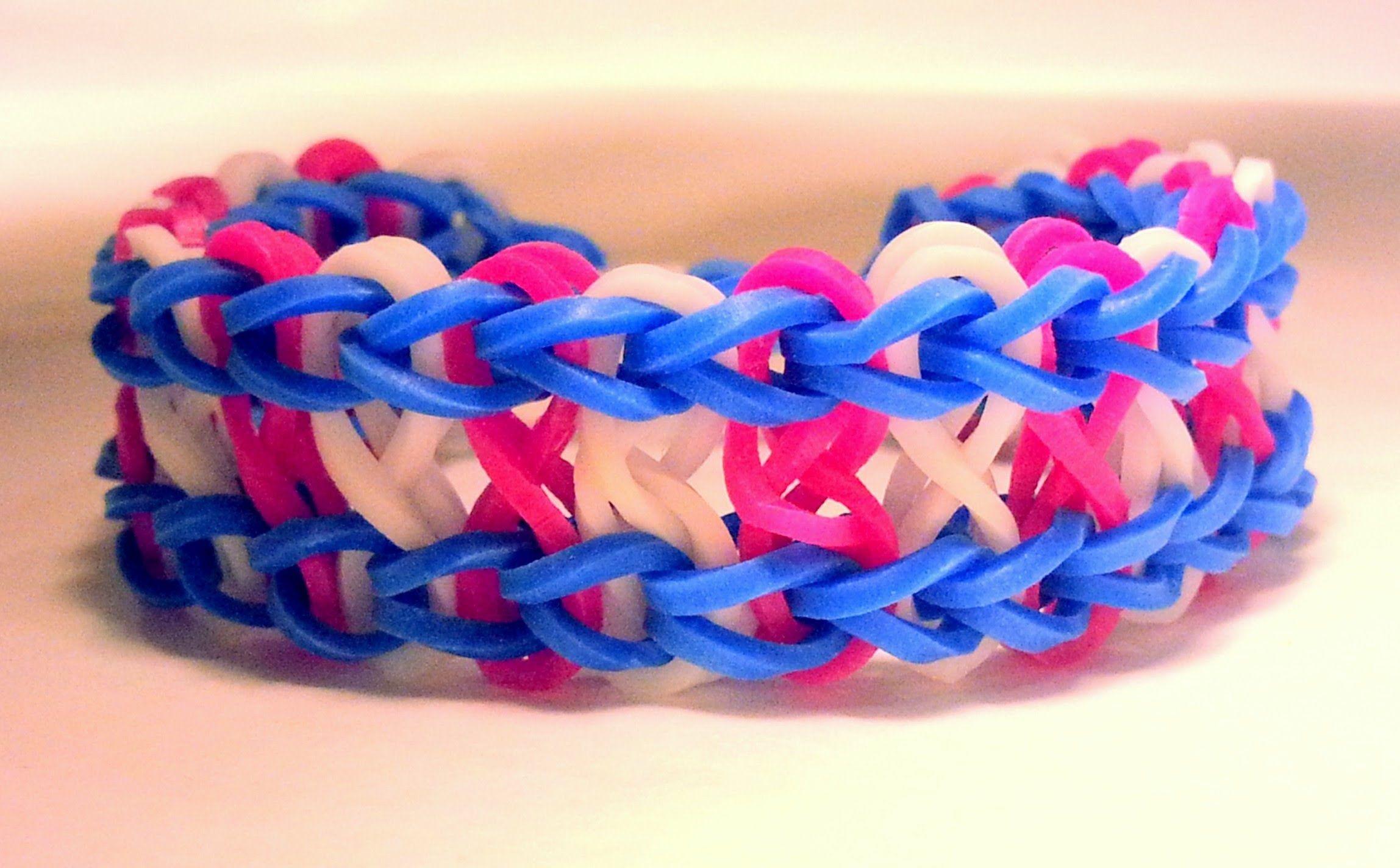 Comment faire un bracelet infini avec des lastiques sans machine rainbowloom - Comment faire des bracelets en elastique ...