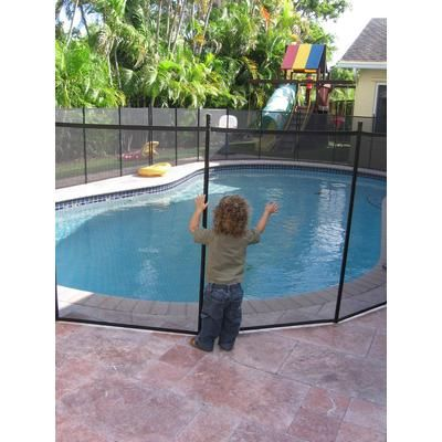 Water Warden Pool Safety Fence Diy Kit For In Ground Pools Home Depot Backyardigans