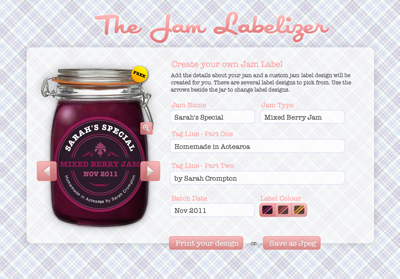 Create your own jam label