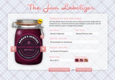 http://www.jamlabelizer.com/  Crea tus propias etiquetas  para tus botes de mermelada
