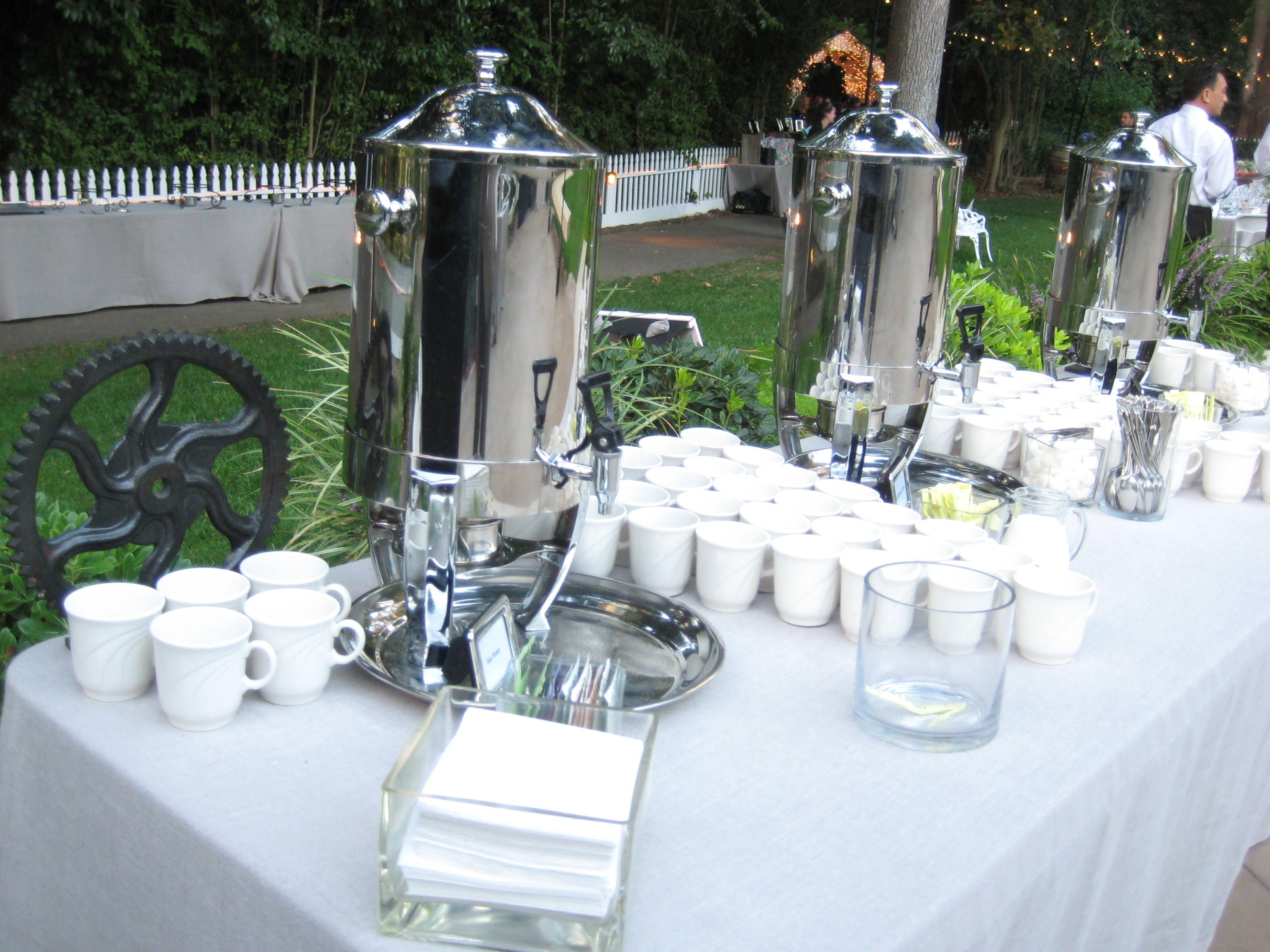 Coffee station overview. Coffee break catering, Coffee