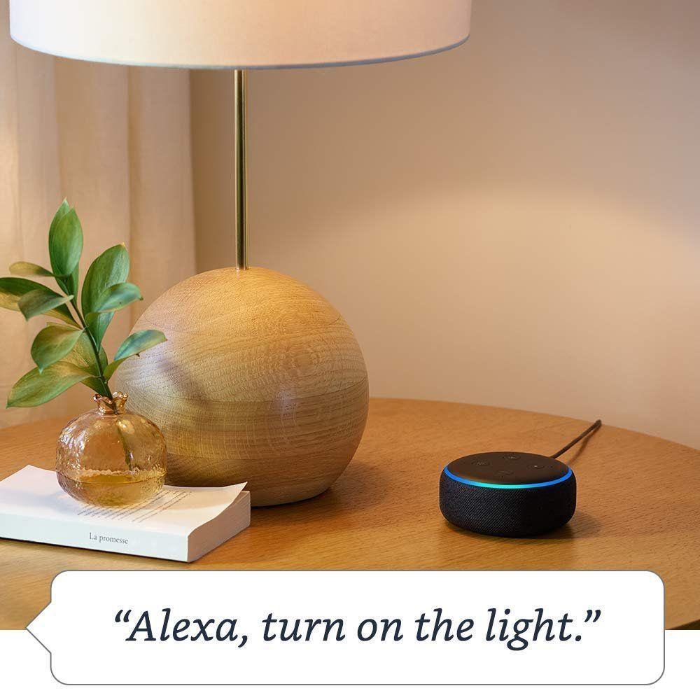 Amazon Echo Dot 3rd Gen Smart Speaker With Alexa Heather Gray Smart Lights Alexa App Amazon Prime Day