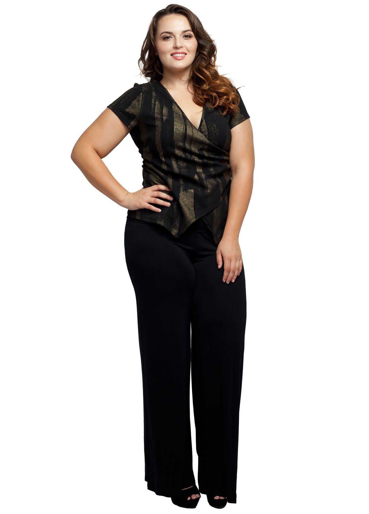 157a97b63a8 Stylzoo Women s Plus Size Stretchy Comfy Palazzo Solid Color Pants at Amazon  Women s Clothing store Plus size plus fashion style fashion diaries makeup  make ...