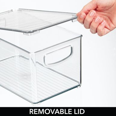 Plastic Kitchen Pantry Food Storage Bin Box with Lid #kitchenpantrycabinets