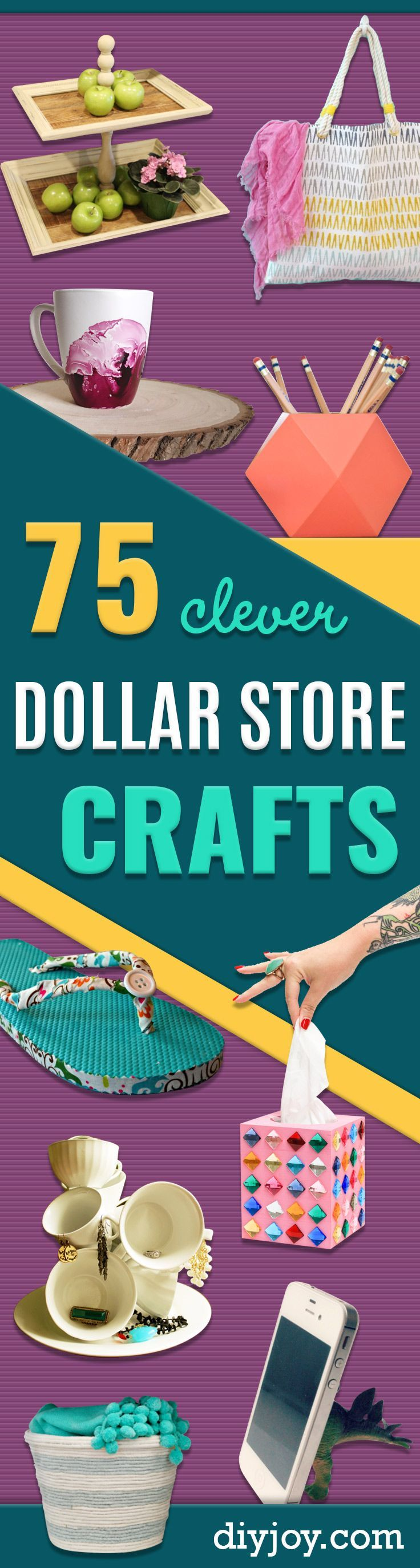 The 75 Absolute Best Dollar Store Crafts Ever in 2020 | Diy dollar