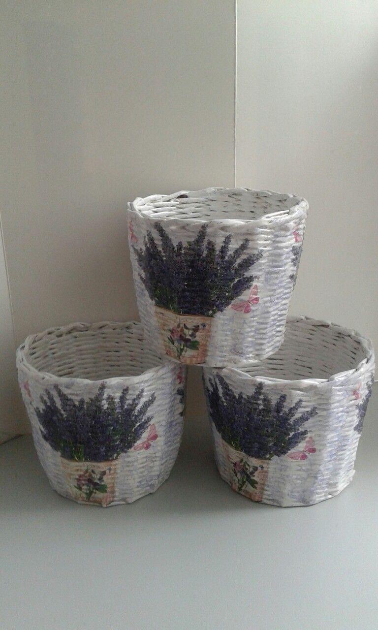 Koszyki Z Wikliny Papierowej Doniczki Wiklina Papierowa