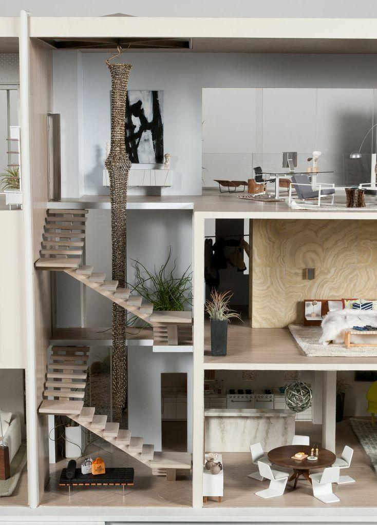 Modern Mini Houses Casas En Miniatura Casas Para Barbies Casa Moderna De Munecas