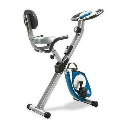Details About Xterra Fitness Fb350 Folding Bike Silver Blue 10 5