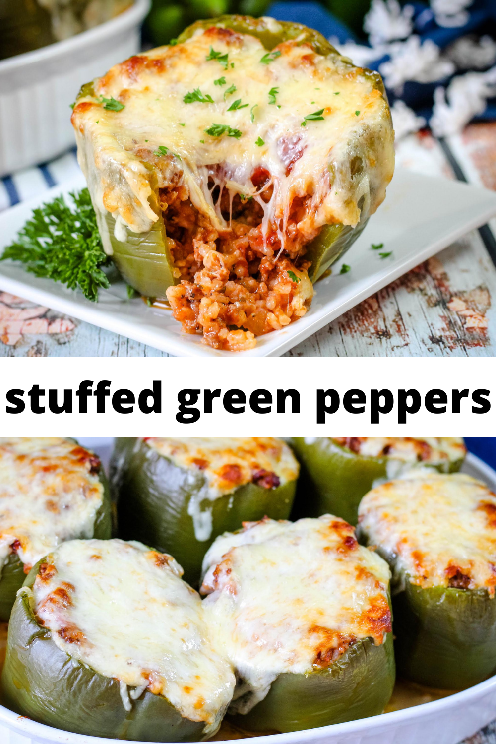 Stuffed Green Peppers Recipe In 2020 Stuffed Peppers Recipes Yummy Casseroles