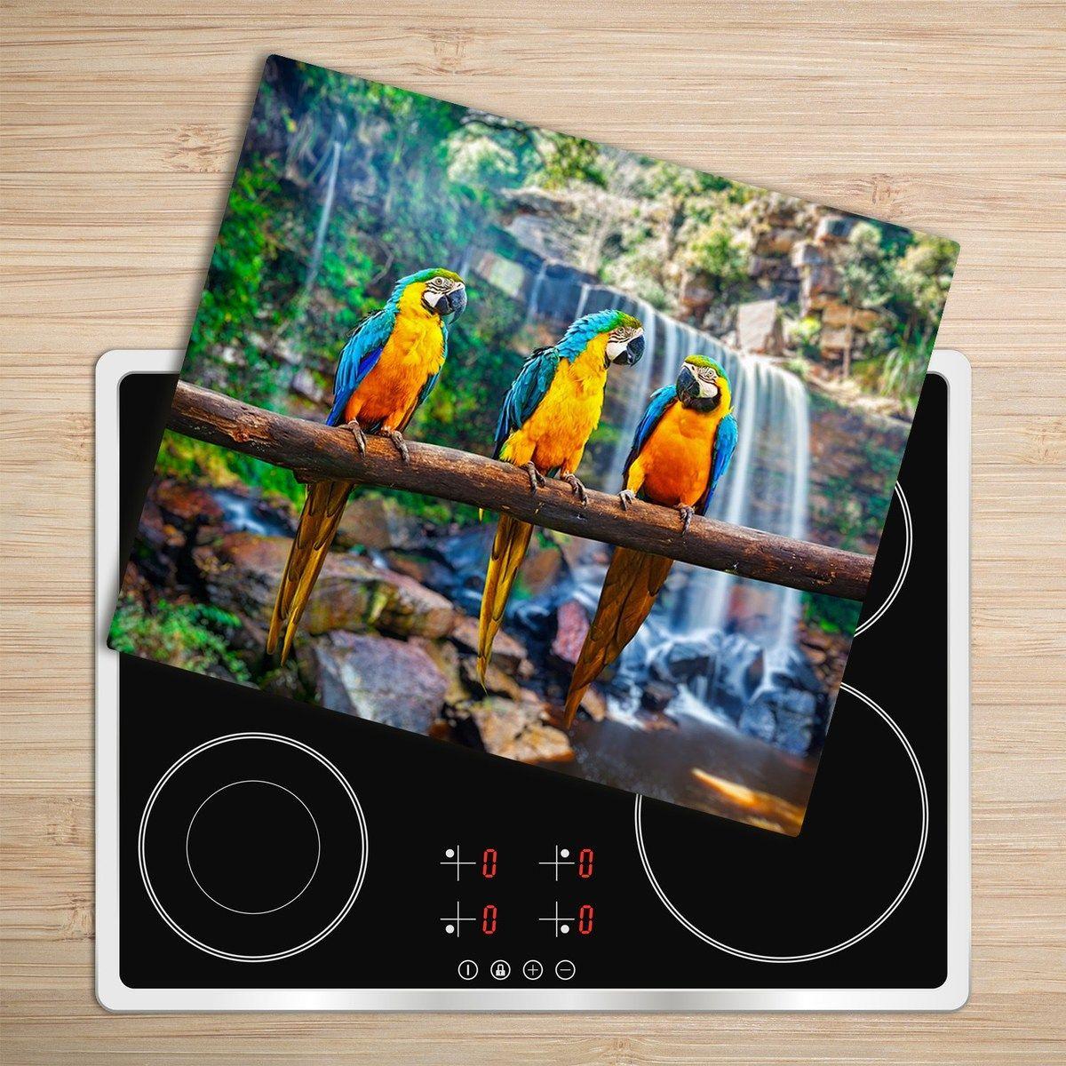 #kitchen #kitchenboard #choppingboard #glass #glassart #colors #colorful #animaplattern #parrots #jungle #jungalow #urbanjungle #stayhome #homemakeover #kitchendecor #kitchendesign #moderndecor