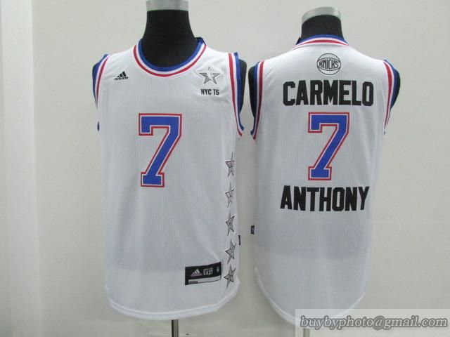 e8ee756f662 2014-2015 NBA All Star New York Knicks  7 Carmelo Anthony Eastern NBA jersey
