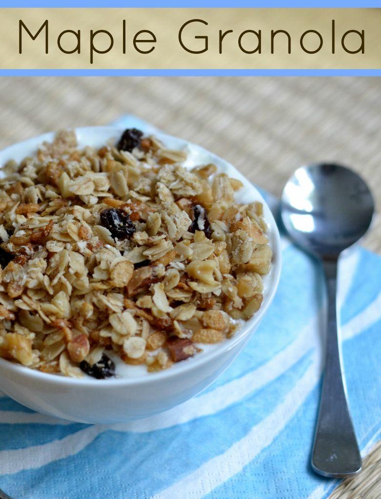 Homemade Maple Granola   Real Food Real Deals #healthy #recipe #vegan