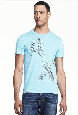 f38f5fd39 Camiseta Armani Exchange Men's Sliced Logo Tee Sea Spray E6X664 #Camiseta #Armani  Exchange