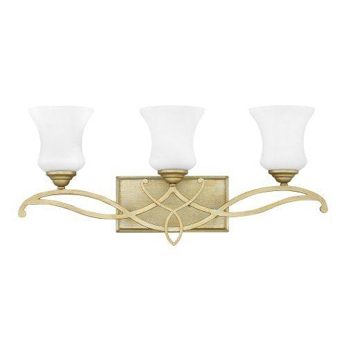 Hinkley lighting 5003 brooke 3 light 24 wide bathroom vanity light with etched silver
