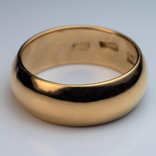 Antique Tsarist Era 23k Gold Wedding Band This Low Dome 8 Mm 5 16 In Wedding Band With Smooth Round Edges Wa Gold Wedding Band Wedding Bands Antique Jewelry