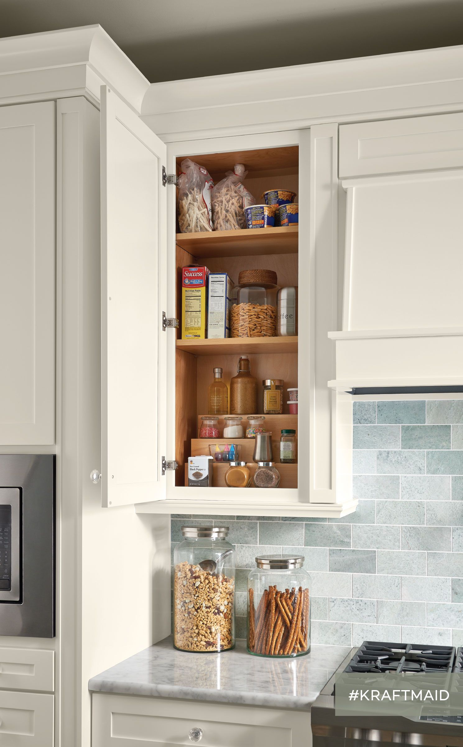 tiered storage shelf in 2019 future kitchen kraftmaid cabinets rh pinterest com