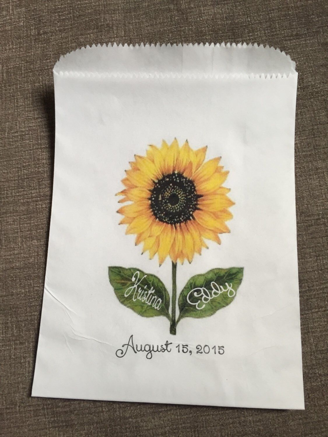 The perfect sunflower themed cookie or candy buffet favor bag! by ...