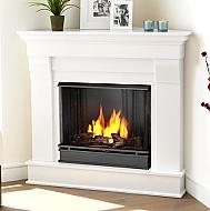 40 94 chateau white corner gel fireplace gel fireplaces gel rh pinterest com