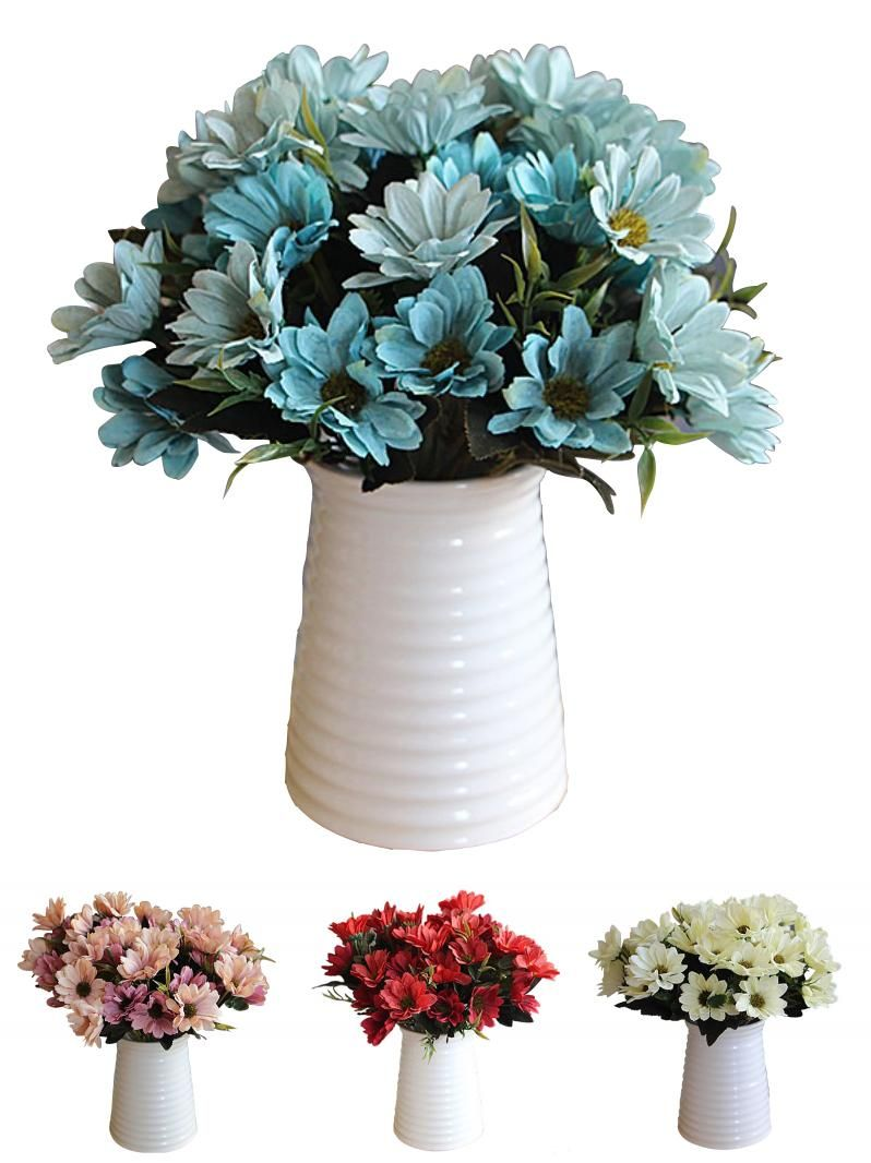 Visit To Buy A Bunch Of Man Mad Bridal Daisy Flowers Fake Silk