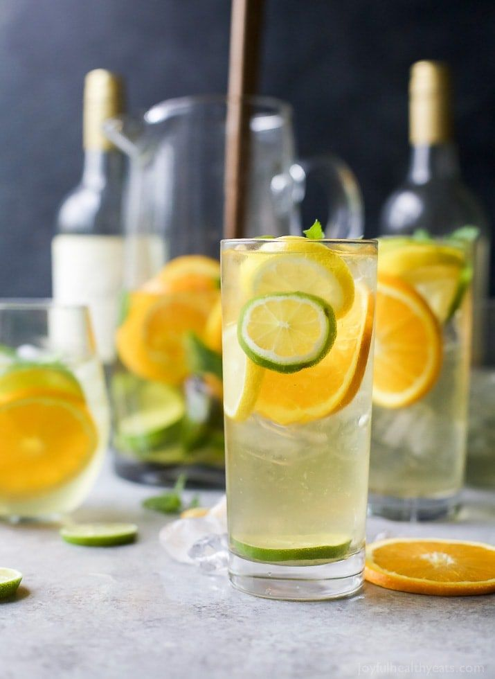 Easy Citrus White Wine Sangria This Easy Citrus White Wine Sangria is the perfect refreshing cocktail for those hot summer days. Sit back and enjoy this fruity drink - you deserve it!