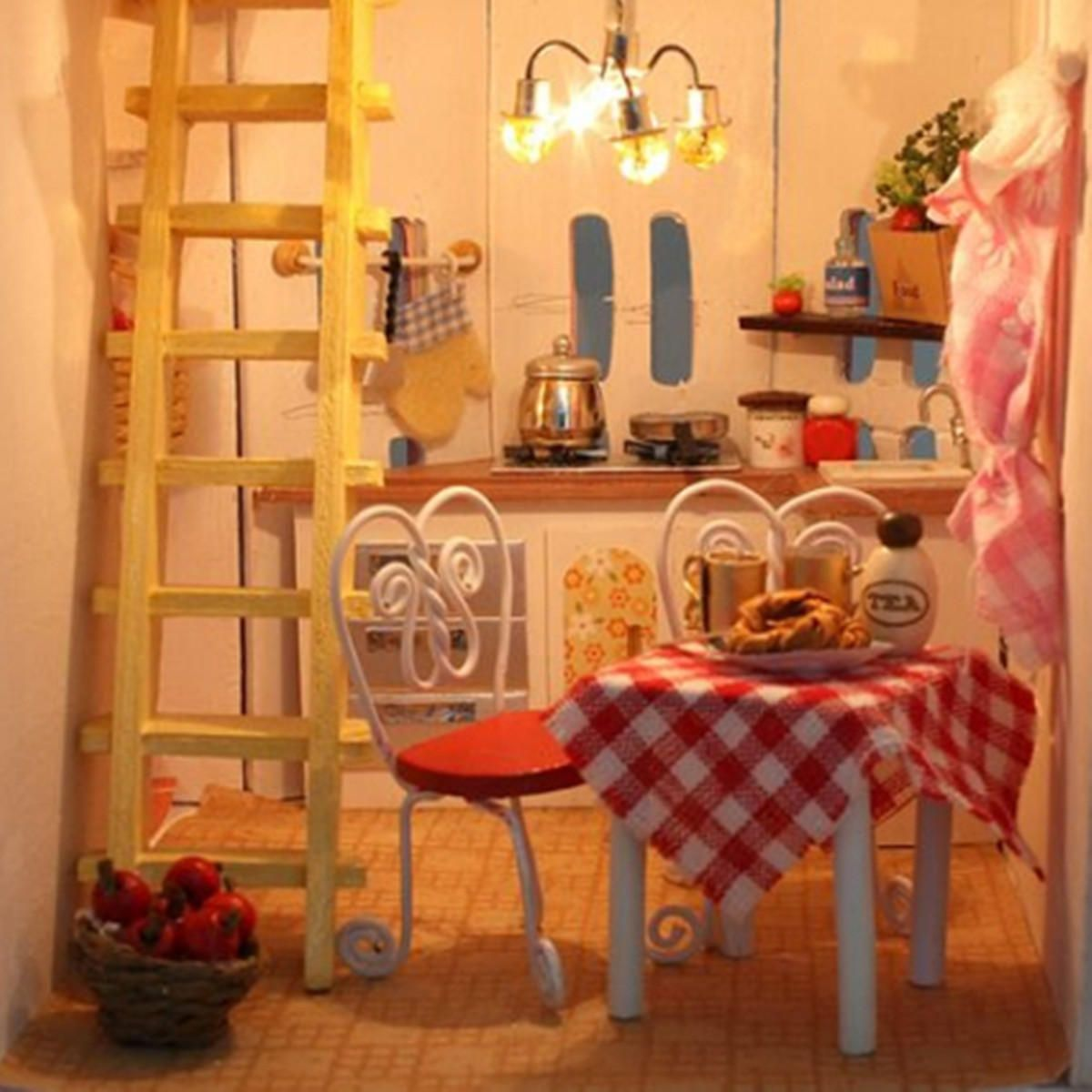 large wooden kids doll house barbie kit girls play dollhouse mansion rh in pinterest com