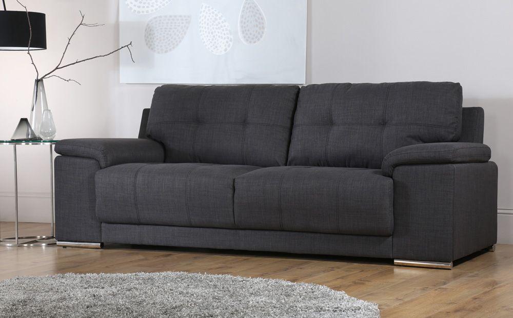 kansas 3 2 seater fabric sofa suite slate grey sofa s chair s rh pinterest com