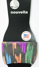 Sandal rings slide toe socks peds paint splatter half footie usa made Microfiber