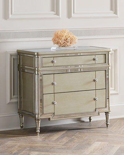 hughe mirrored three drawer chest drawers third and free shipping rh pinterest com