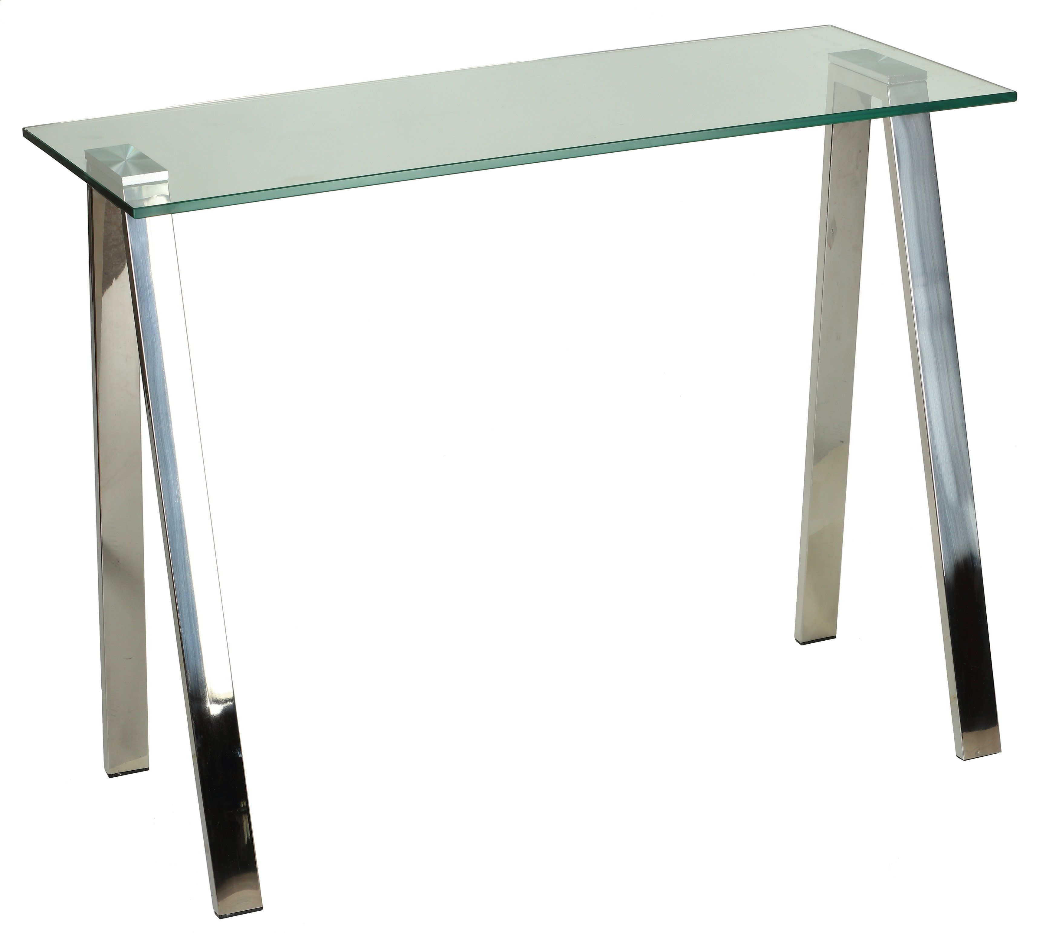 cortesi home trixie glass top desk console table with stainless rh pinterest com