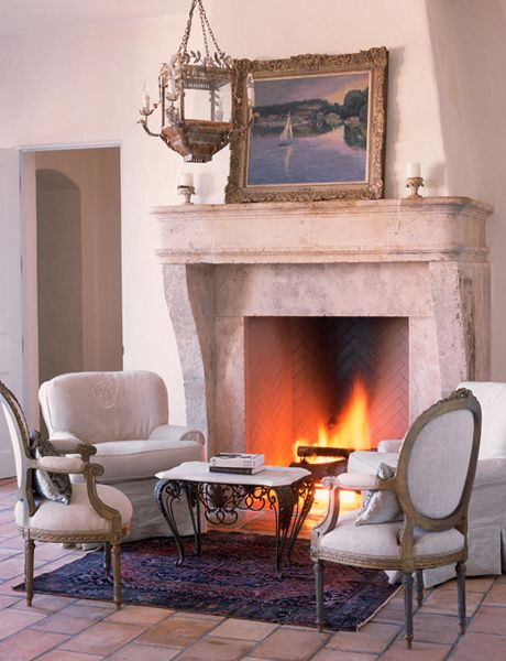 So Cozy French Country Fireplace French Fireplace French