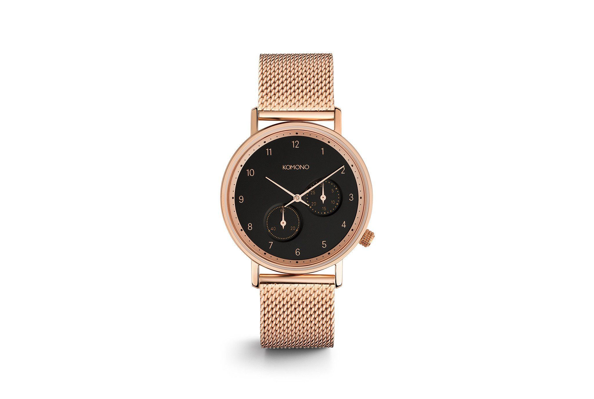 Komono - The Walther Rose Gold Mesh Watch