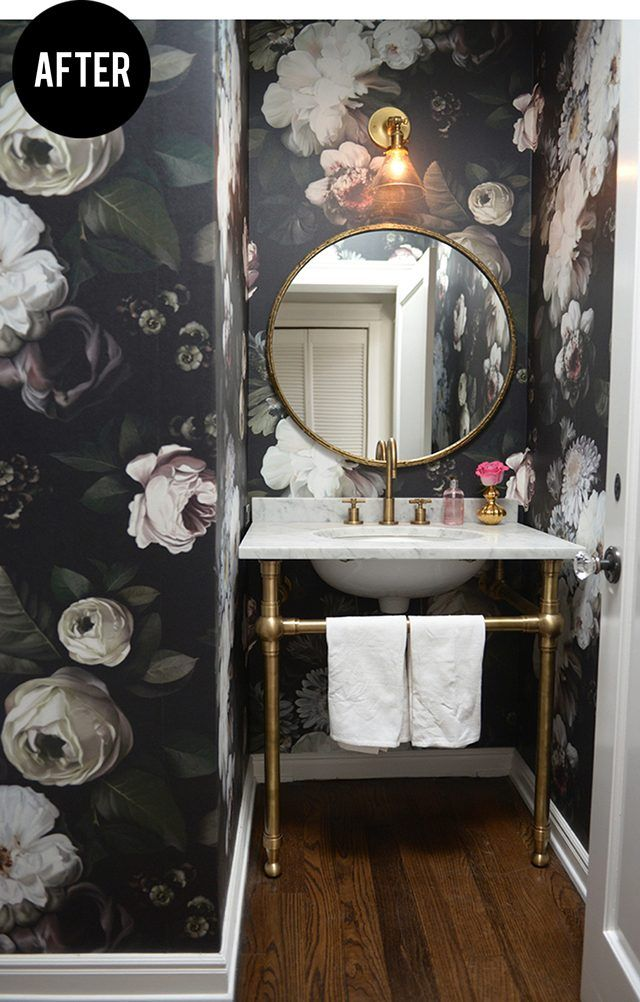 Decorating Ideas For Small Powder Rooms Powder Room Wallpaper