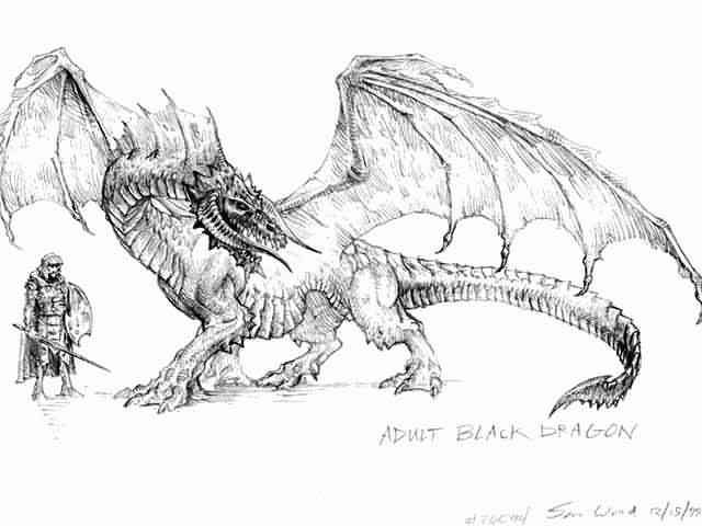 Cool Drawings In Pencil   Dragons/Drawings/S Wood/Dragon-Pencil-Drawing-Wood3