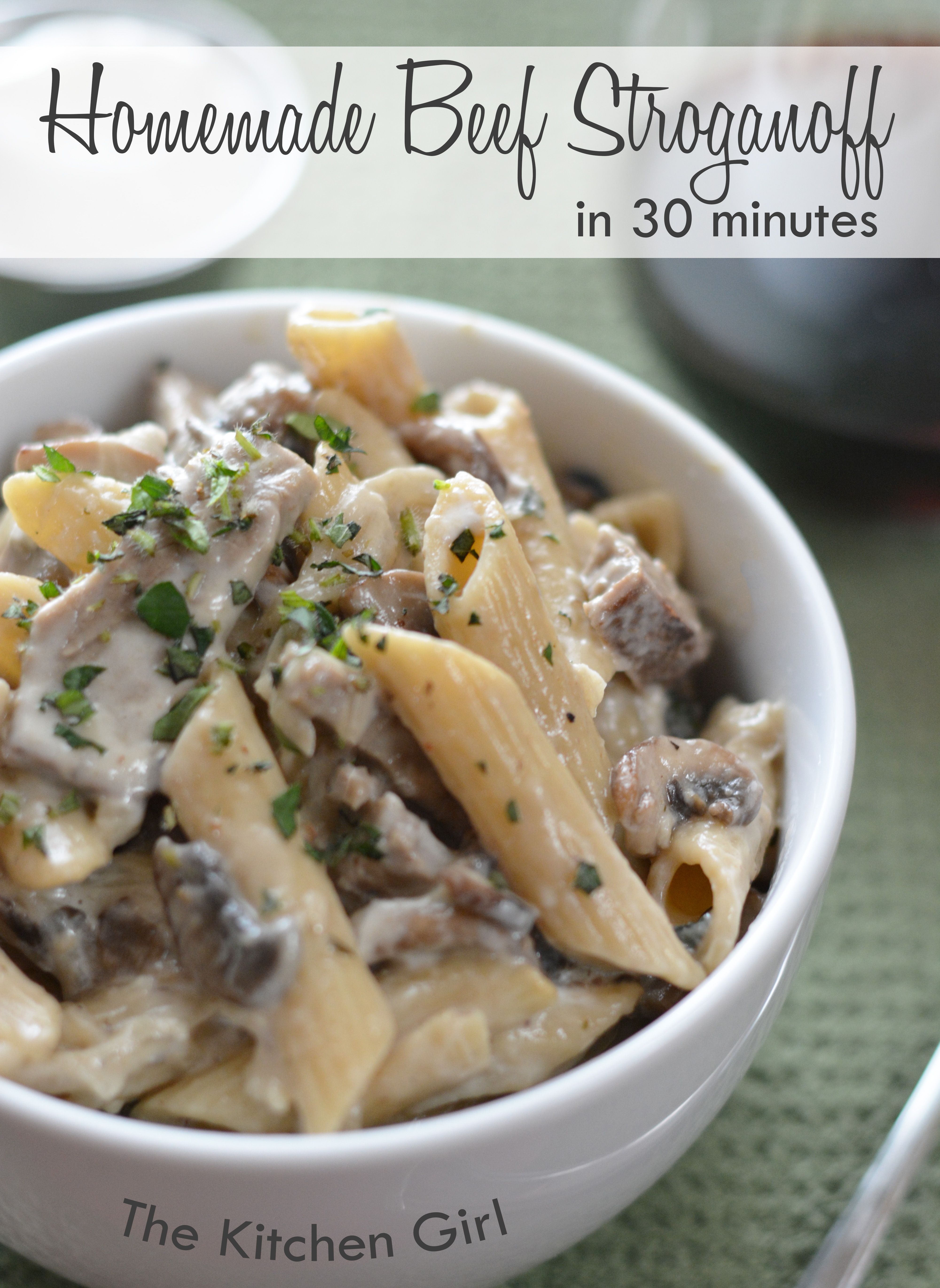Make Your Own Beef Stroganoff In 30 Minutes With An Easy White Sauce Recipe Uses 1 Milk Instead O Homemade Beef Stroganoff Beef Stroganoff Easy Steak Recipes