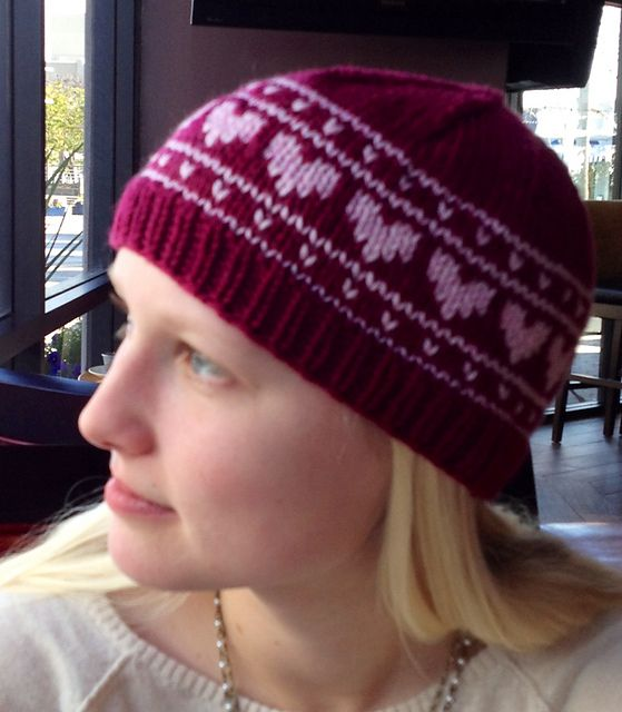 Hearts On Repeat Hat By Jules Lustenader A Simple Fair Isle