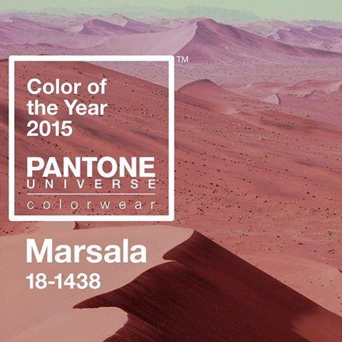 Pantone Marsala Couleur de l'année 2015. Sélection Pantone 2015 Marsala : Blog Univers Créatifs. #Marsala #Pantone