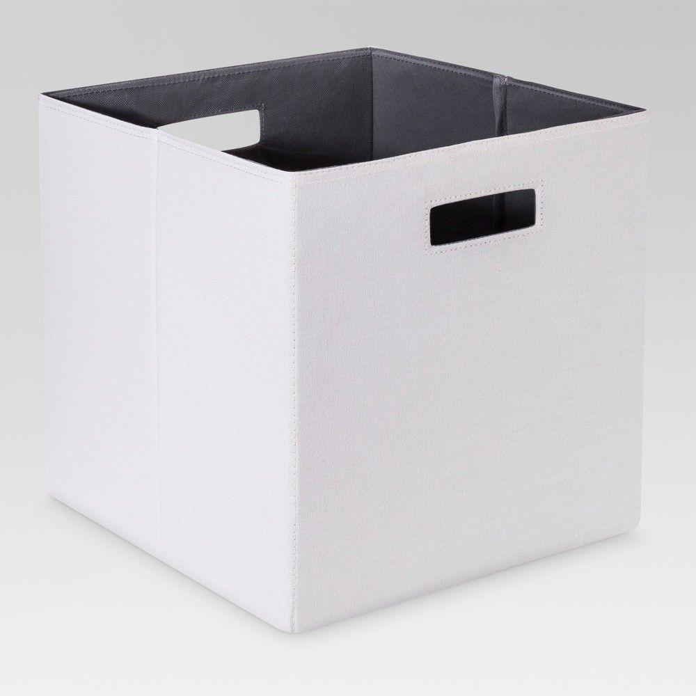 13 Fabric Cube Storage Bin Gray Threshold Light Peat Cube Storage Storage Bins Fabric Storage Bins